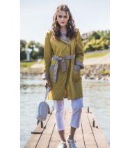 FIFI könnyű nyári kabát hátizsákkal, sárga-drapp