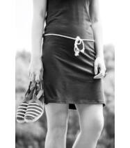 DORI kapucnis rövid pamut nyári ruha, khaki