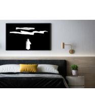 Sziluett 7., fekete-fehér fotó – művészeti nyomat