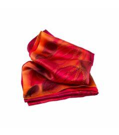 Ciklámen selyemsál lótuszokkal (charmeuse)