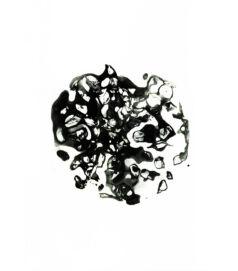 Egy gránátalma metszete, fekete-fehér fotó – művészeti nyomat