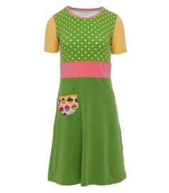 rövid ujjú ruha, zöld