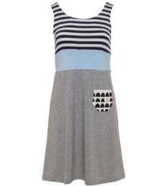 ujjatlan rövid nyári ruha, világosszürke