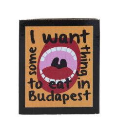 Gyufa hűtőmágnes - Gasztro Budapest