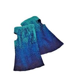 Nemezelt kesztyű merinói gyapjúból - türkizkék