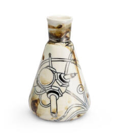 lakasdekor_andrasi_edina_designer_porcelan_dekor_vaza_barna_ezust