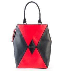 Kite city bag, fekete-piros