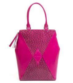 Kite city bag, pink strucc mintás