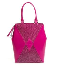 Kite city bag, pink strucc mintás