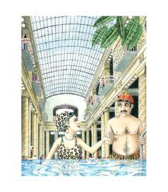 Gellért fürdő - Giclée művészi nyomat
