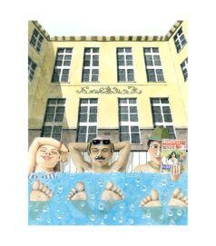 Lukács bubble bath - Giclée művészi nyomat