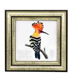 Búbosbanka - keretezett giclée művészi mininyomat