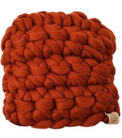merinói gyapjú horgolt párna - füge