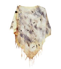 Poncsó merinói gyapjúból - világos