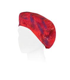 Nemezelt sapka merinói gyapjúból - piros