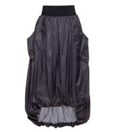 Vízlepergető, zsebes hosszú hagymaszoknya, sötétszürke