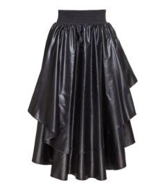 Vízlepergető, hosszú réteges szoknya, fekete