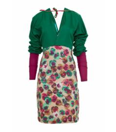 Virágnyomatos designer ruha