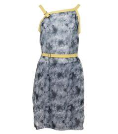 Muszlin nyári ruha, szürke