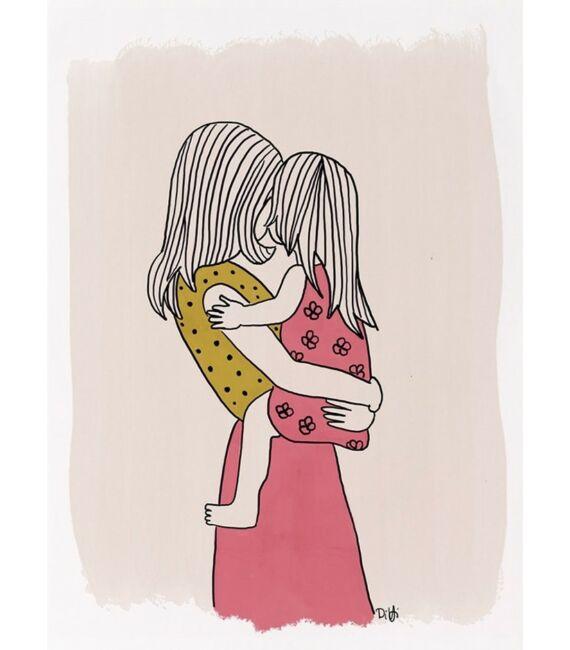 Illusztráció - Anyuka kislánnyal