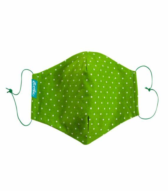 Maszk, zöld - aprópöttyös