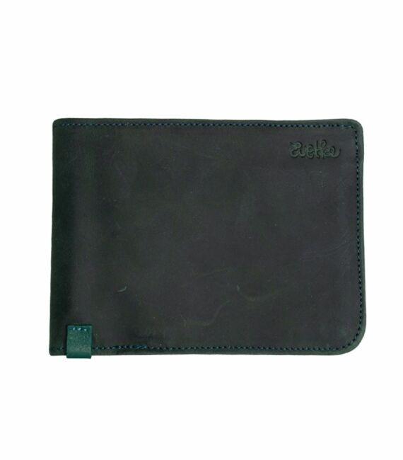 Férfi bőr pénztárca, sötétzöld