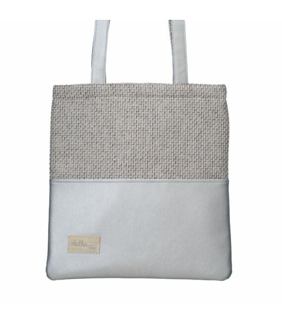 Ezüst színű dizájner shopper